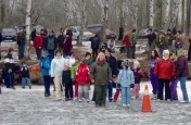 Diskotéka na ledě na Hlubočce