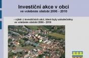 Investiční akce 2006 - 2010