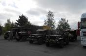 Kolona historických vojenských vozidel 6. 5. 2017