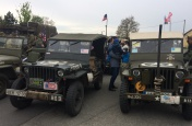 Kolona historických vojenských vozidel  2019