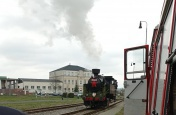 Parní vlak v Heřmanově Huti 1. 5. 2021